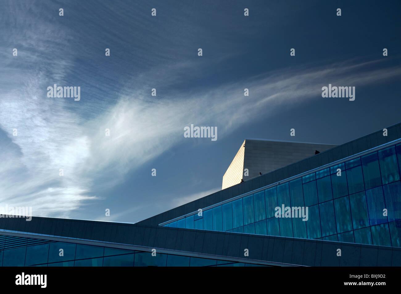 Scenic view of Oslo Opera Norway - Stock Image