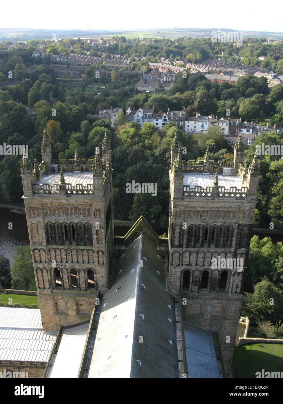Aerial View West From The Main Tower Of Durham Cathedral Durham