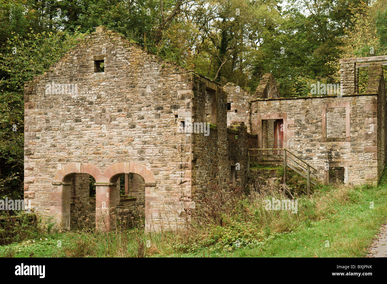 UK Cumbria Caldbeck Ruined Bobbin Mill - Stock Image