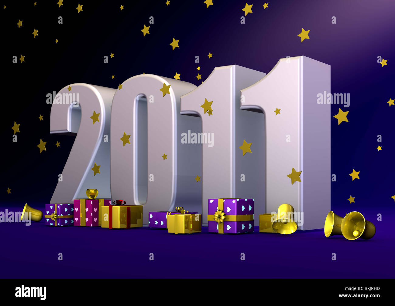 2011 written with big letters - Stock Image