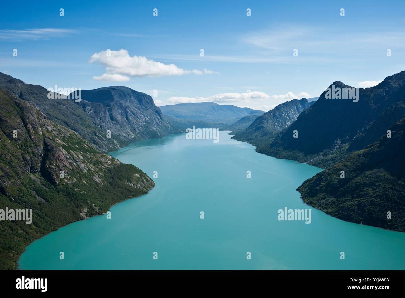 Scenic lake Gjende, Jotunheimen national park, Norway - Stock Image