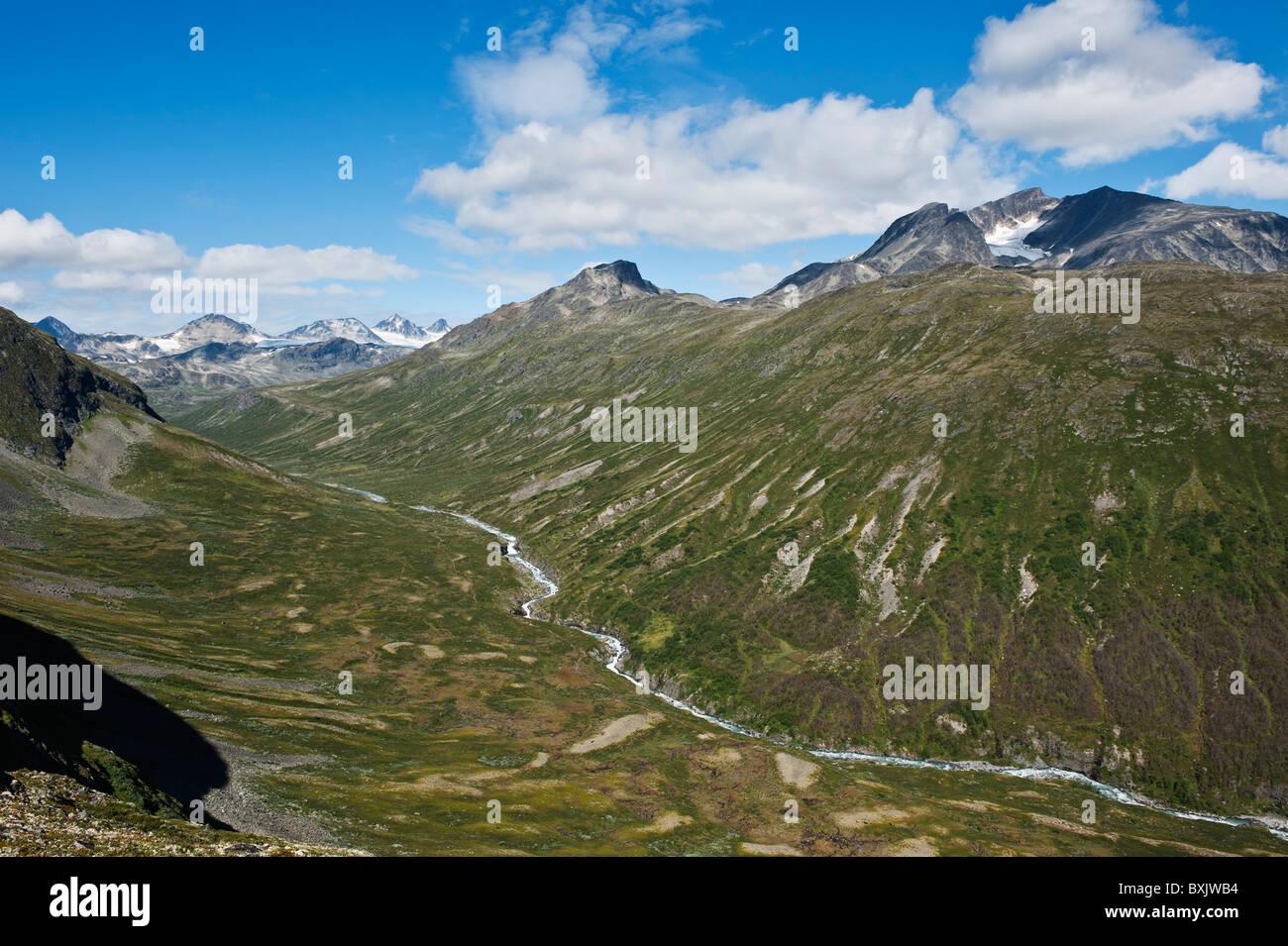 Memurudalen and Muru river, Jotunheimen national park, Norway - Stock Image