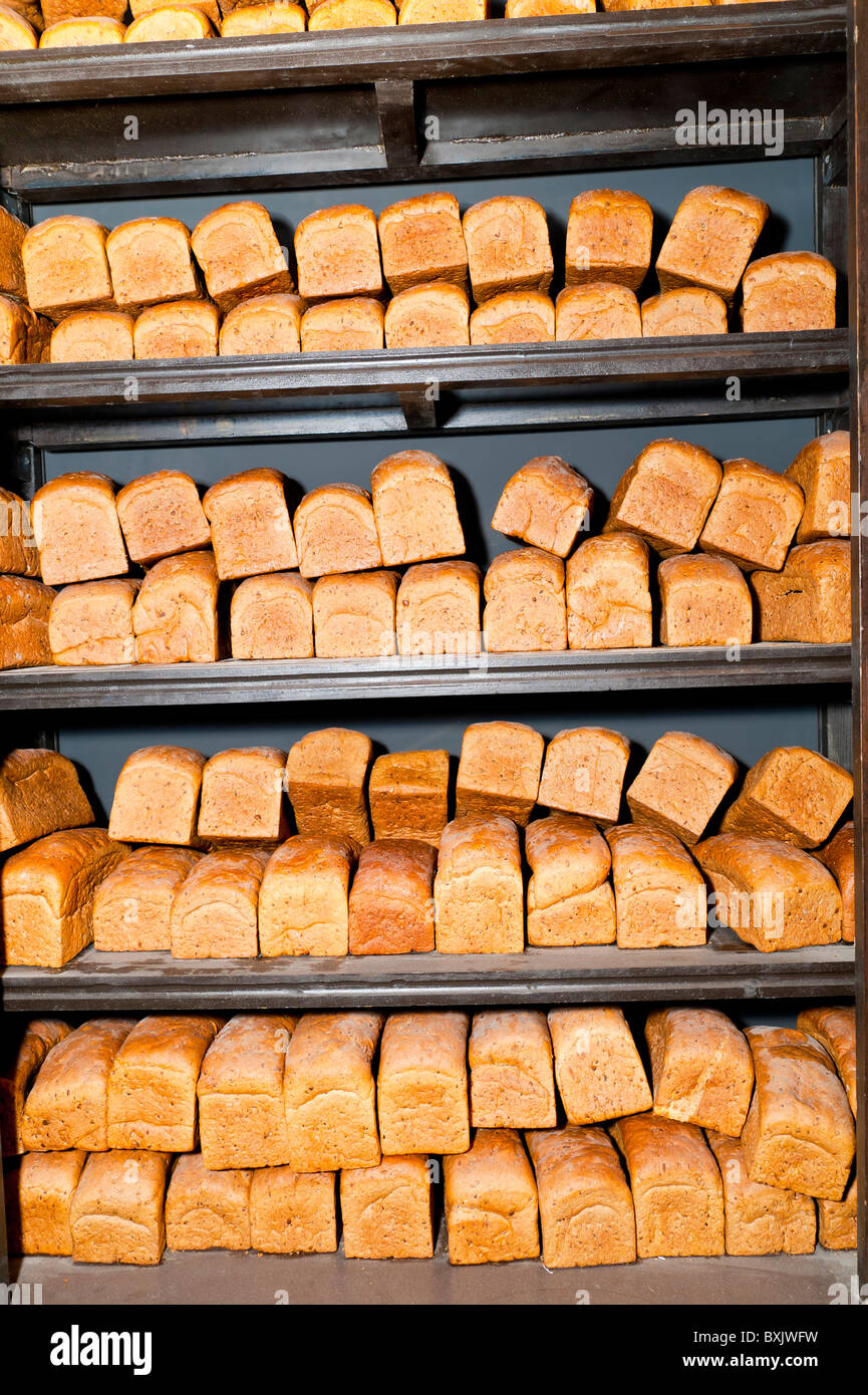 Loafs of bread - Stock Image
