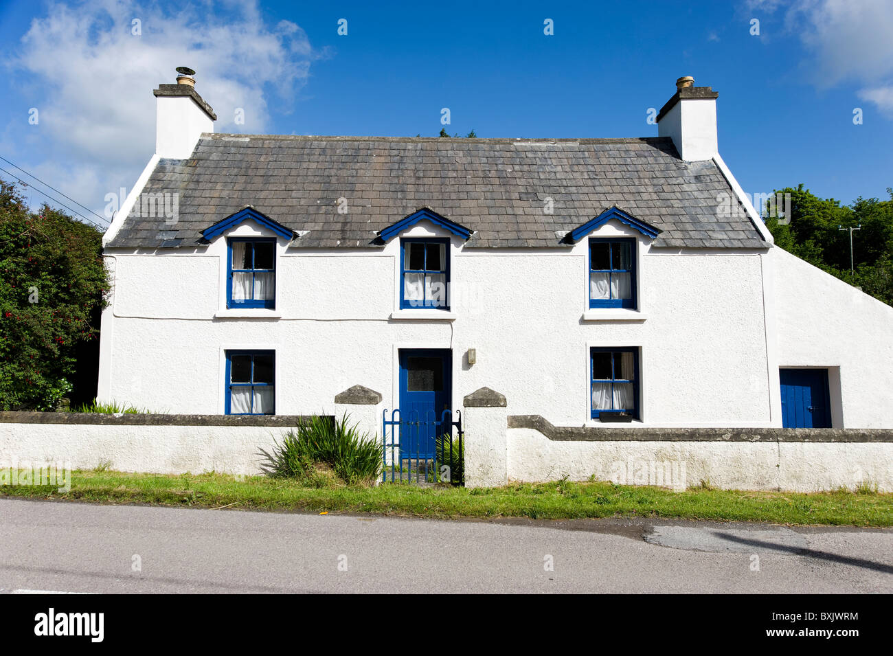 Detached house in Baltimore, County Cork, Ireland - Stock Image