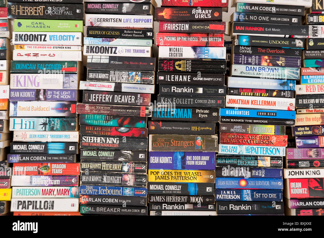 Stacks of books - Stock Image