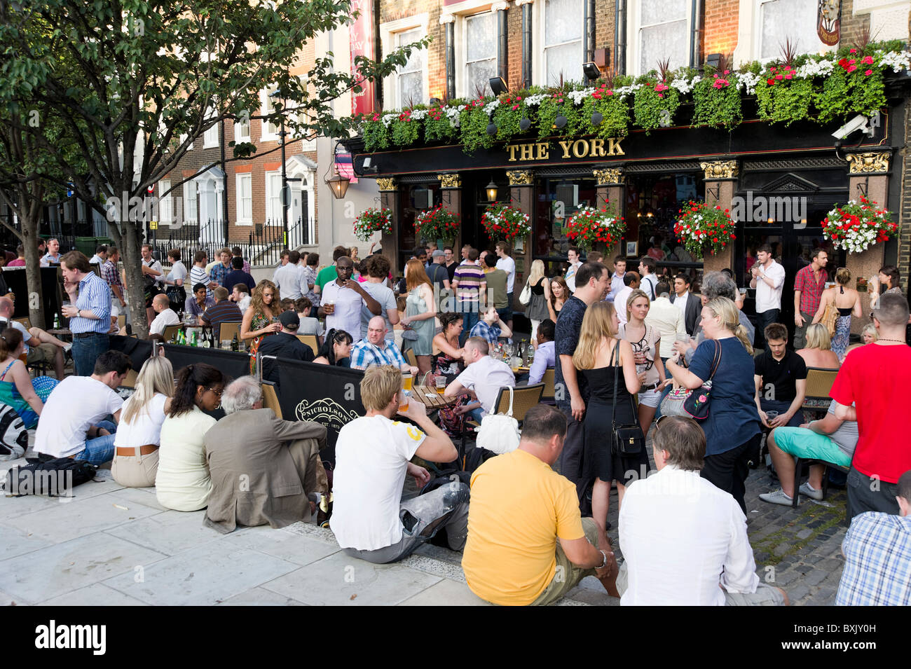 The York pub on Upper Street, Islington, London, England, UK - Stock Image