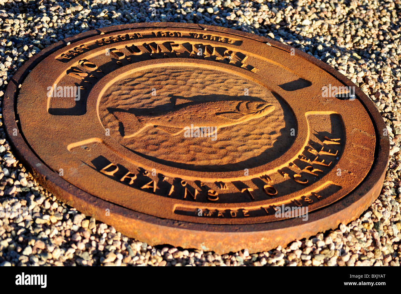 man hole cover - Stock Image