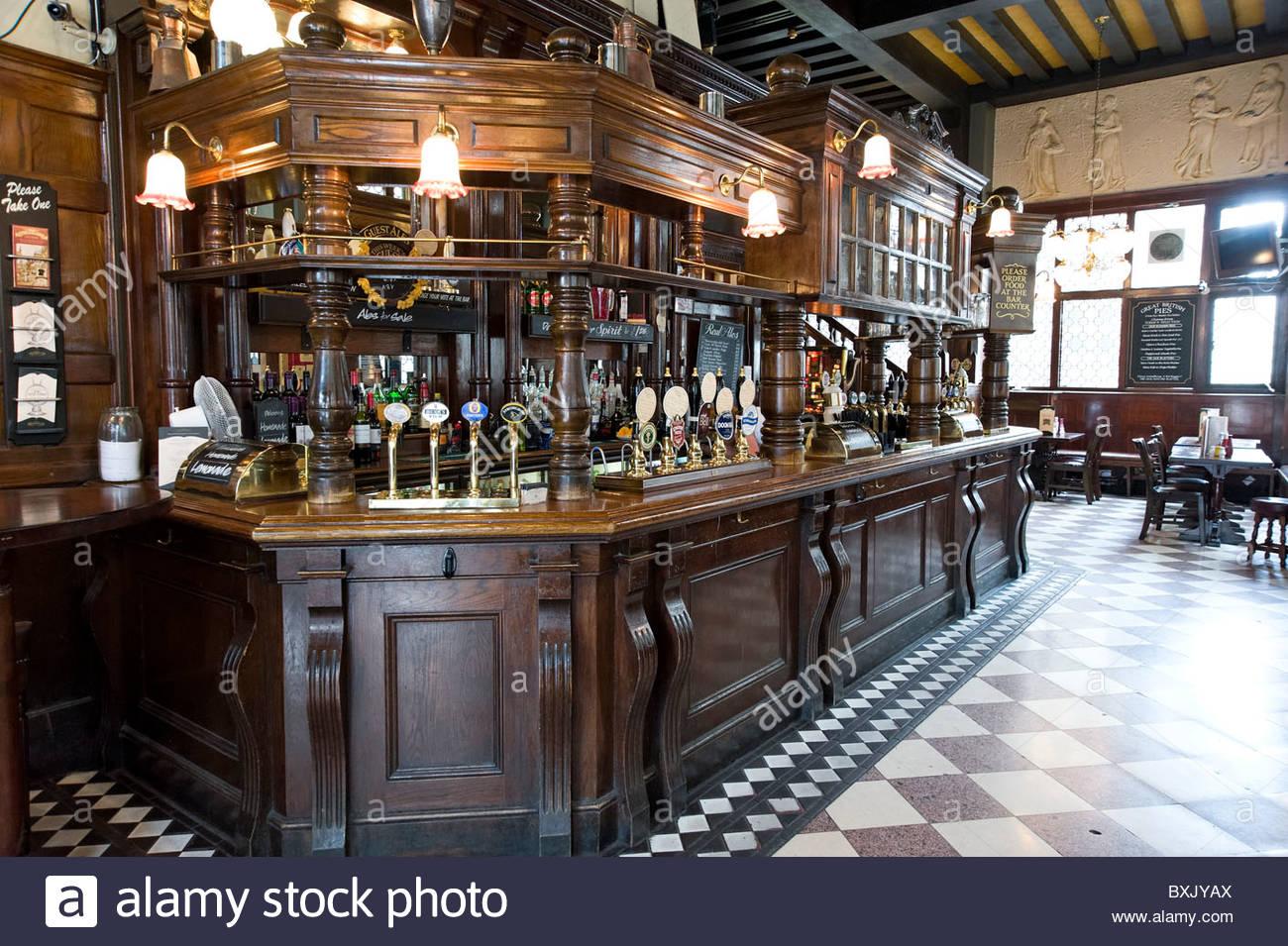 The Coal Hole pub on the Strand, London, England, UK - Stock Image