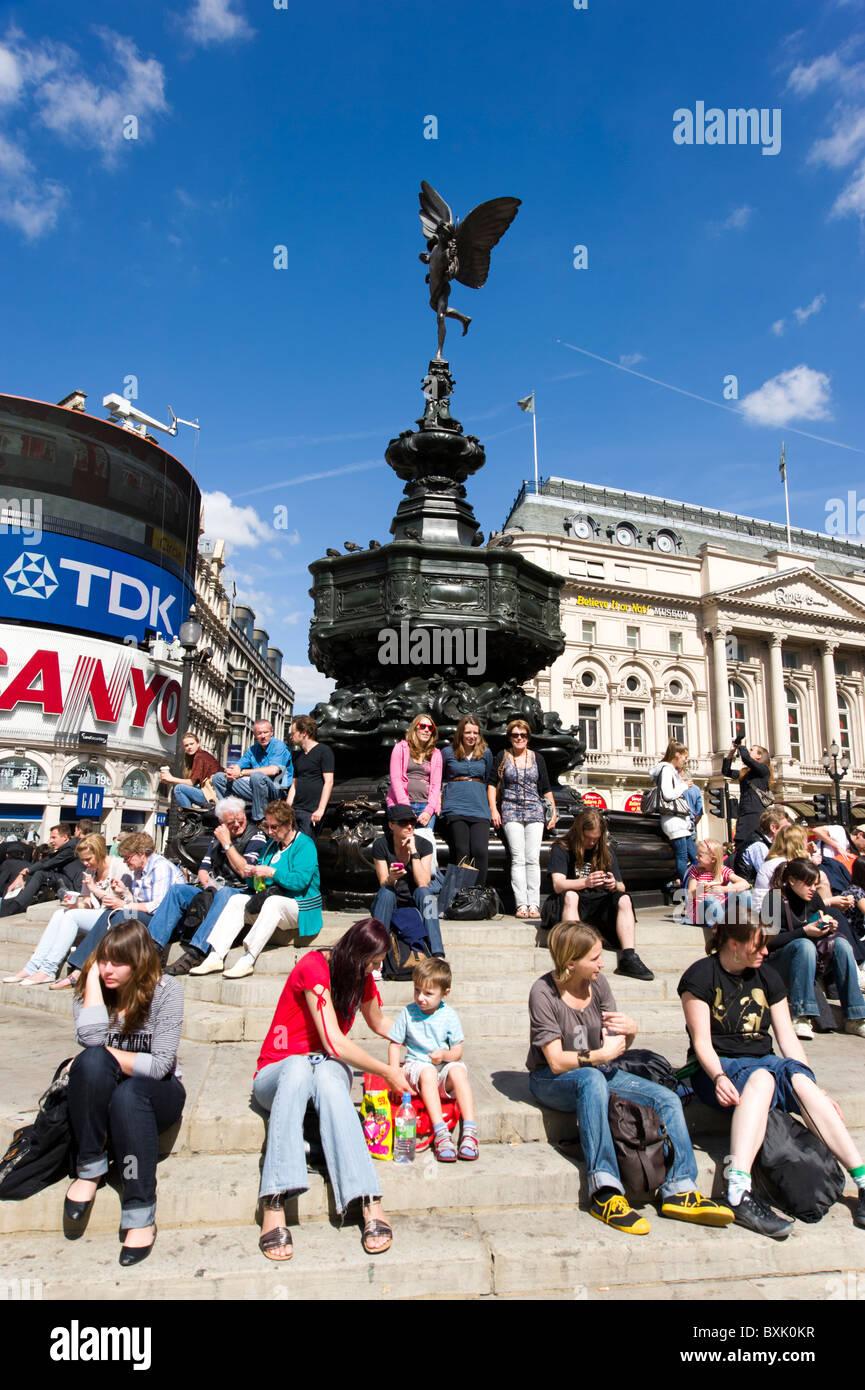 Piccadilly Circus, London, England, UK - Stock Image