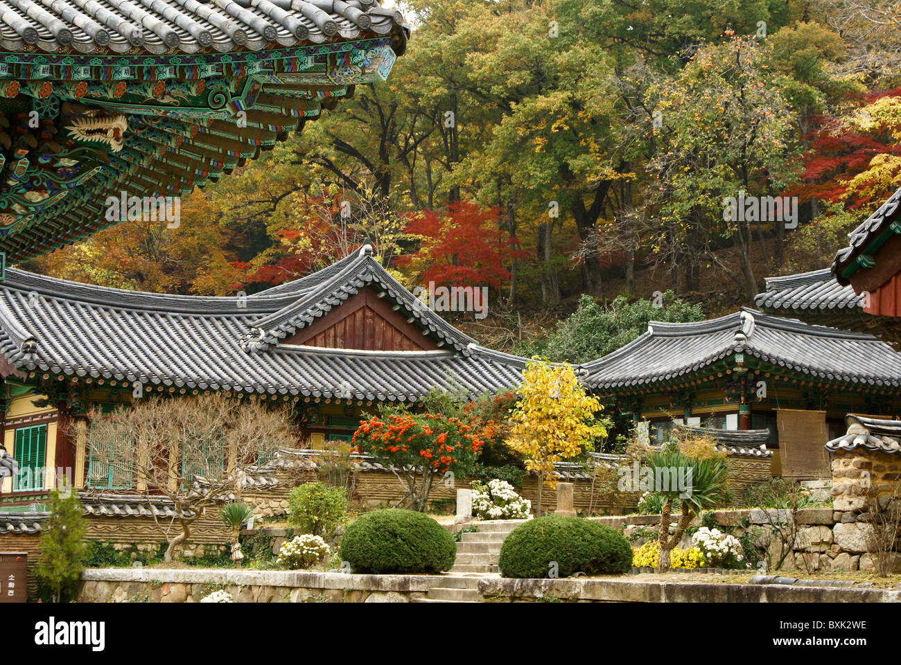 Seonamsa Buddhist temple, Suncheon, South Korea Stock Photo ...