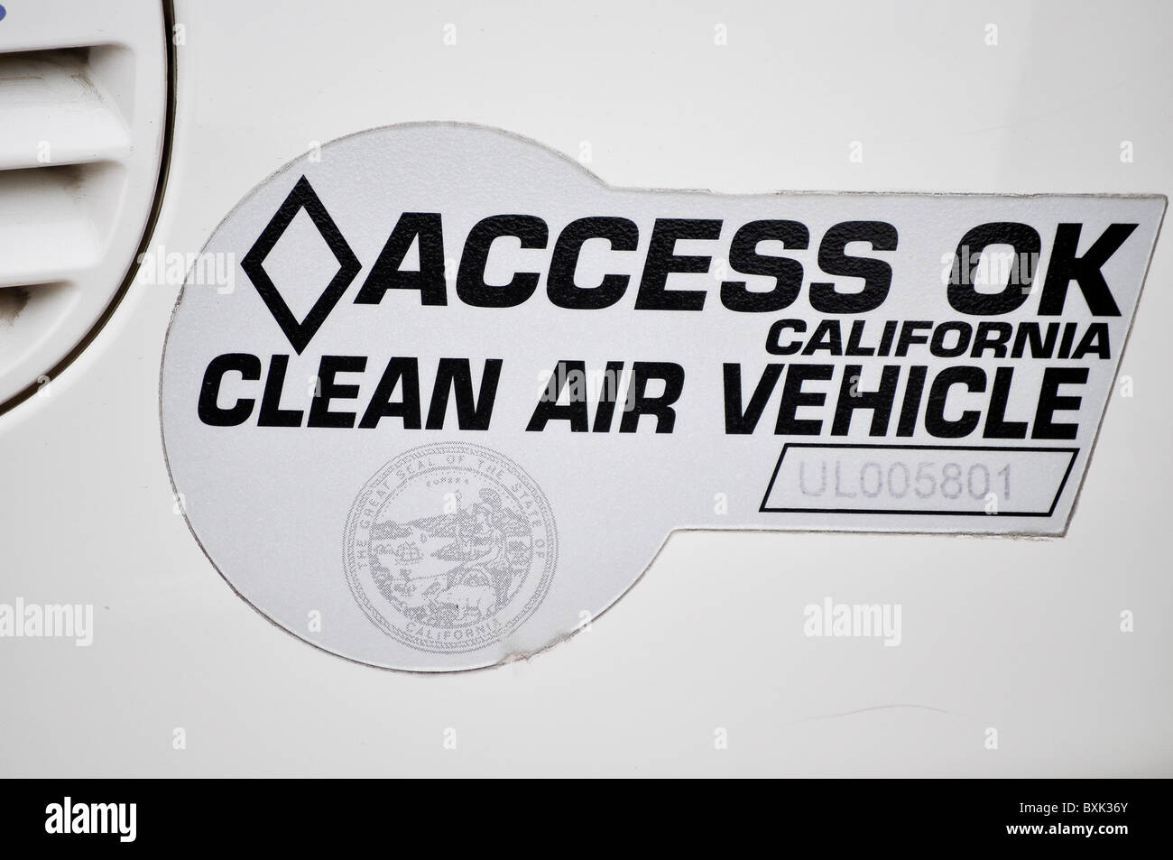 Clean Air Vehicle Natural Gas - Stock Image