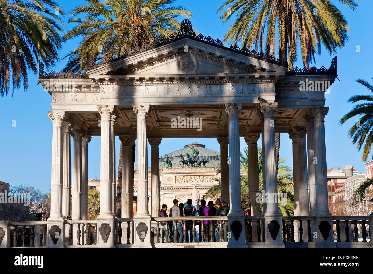 Piazza Castelnuovo, Palermo, Sicily, Italy - Stock Image