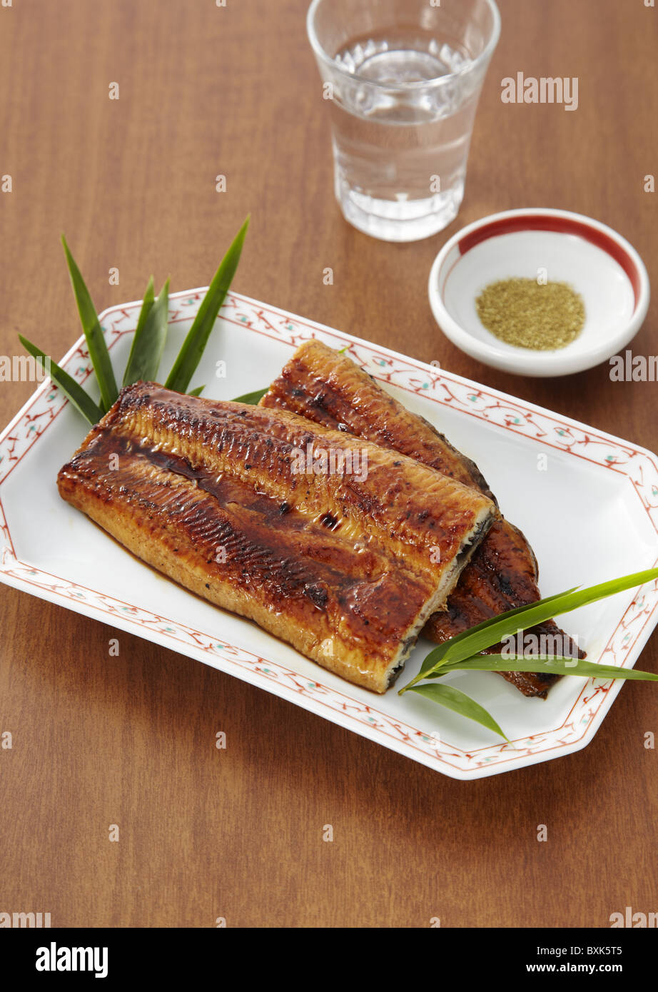 Broiled Eel Dipped In A Sweet Soy Sauce Base Sauce Stock Photo