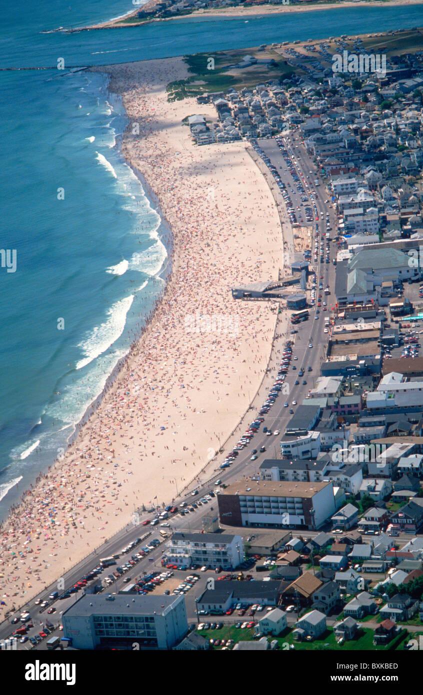 Aerial View Of Hampton Beach, New Hampshire, United States