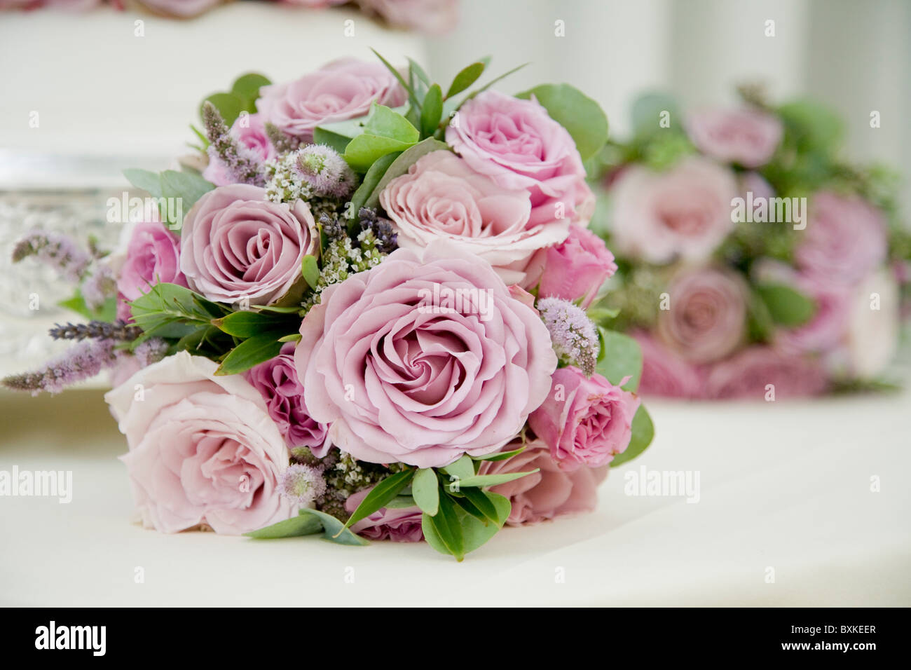 Bouquet of flowers on a wedding day for a bride. Bridal bouquet of ...