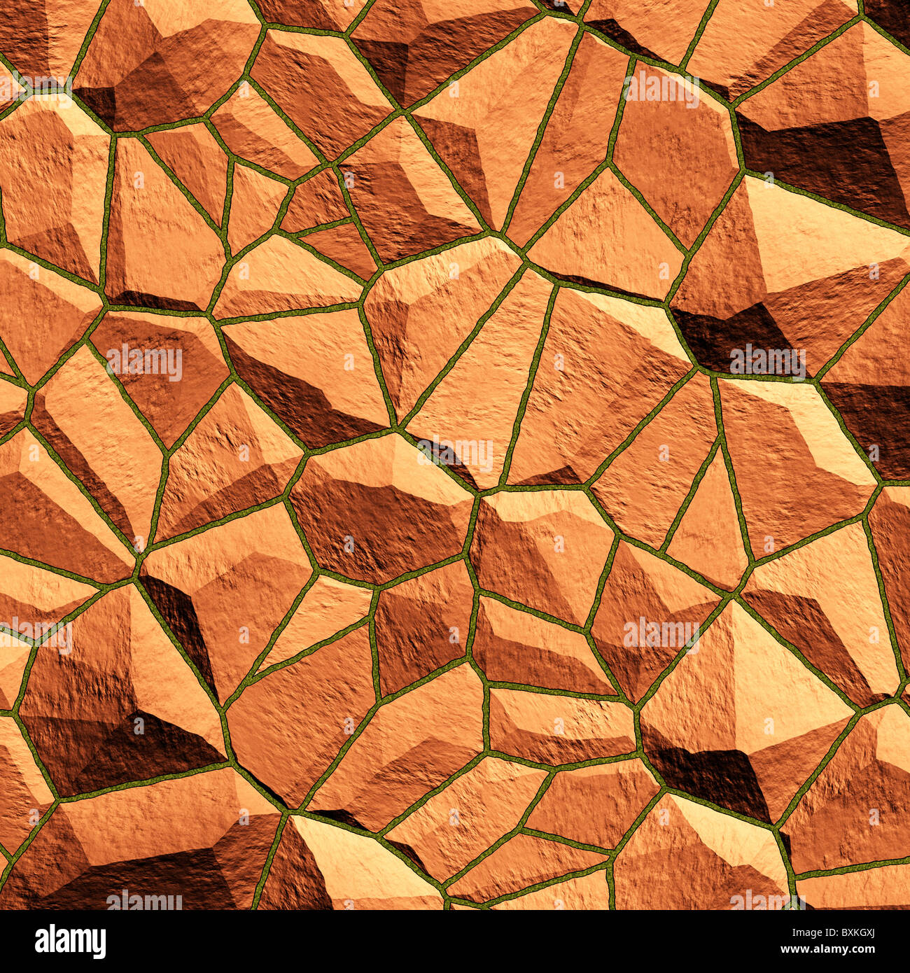 Abstract generated stone surface for background and design - Stock Image