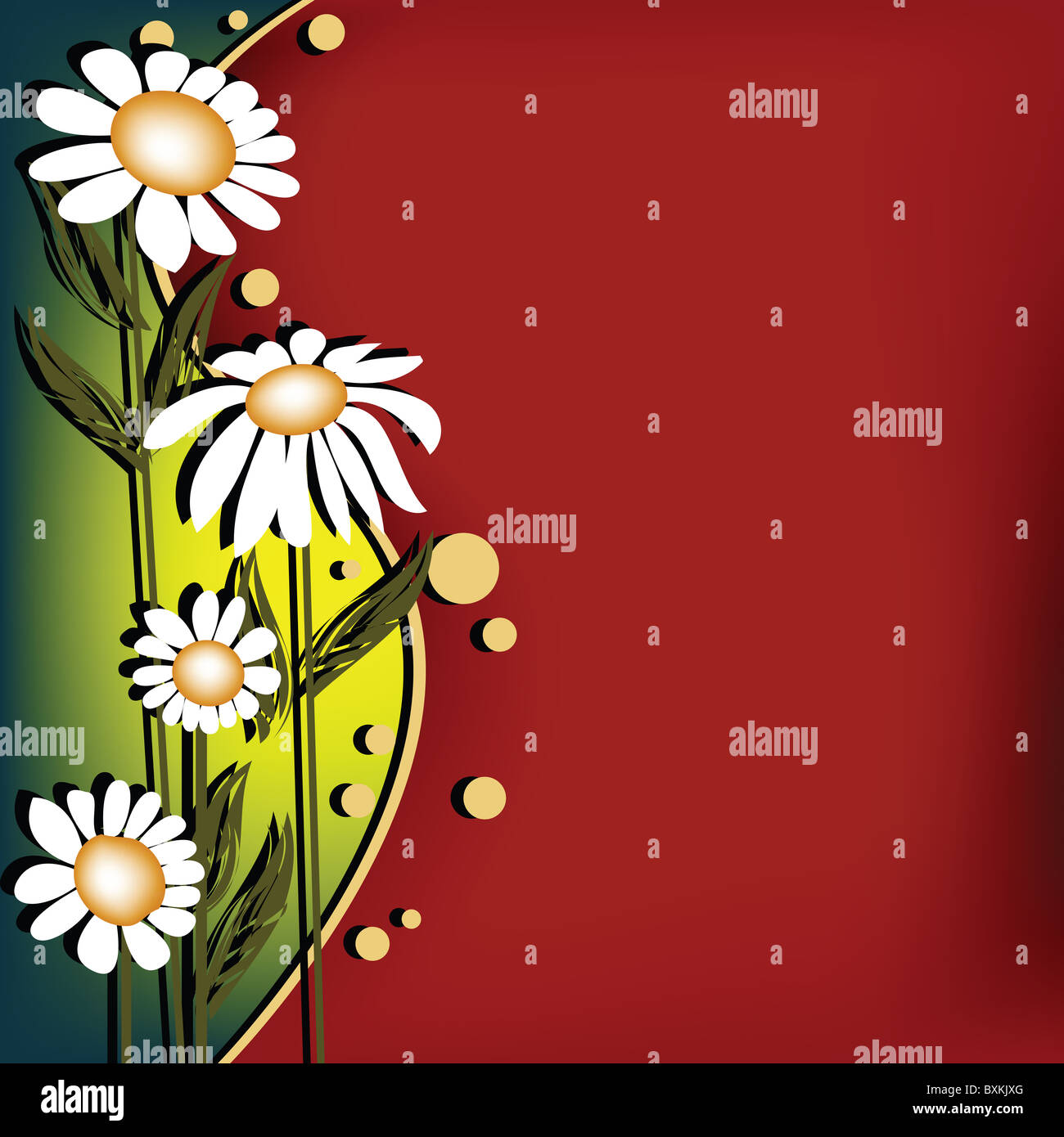 Floral card - Stock Image