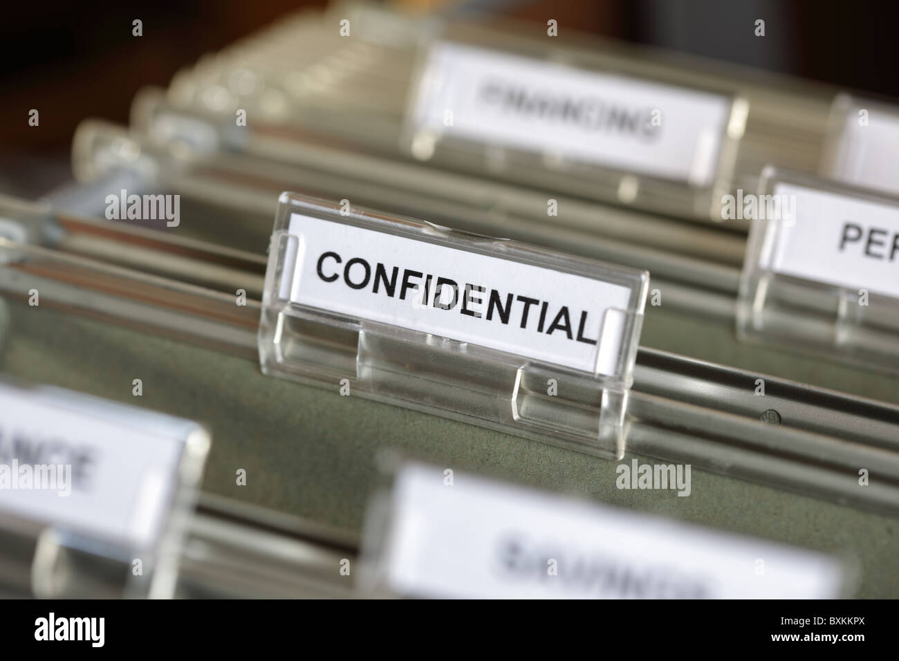Confidential file - Stock Image