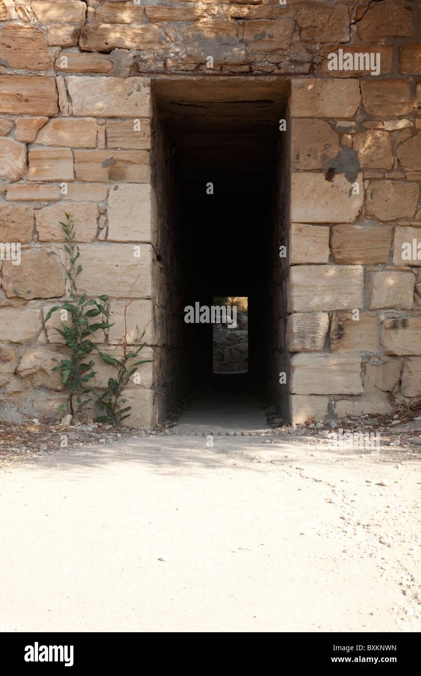 Underpass at Petra toa Romiou Stock Photo