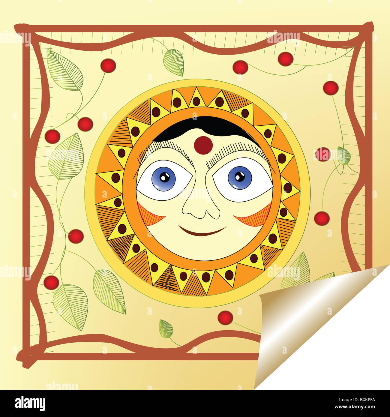 smiling sun - Stock Image