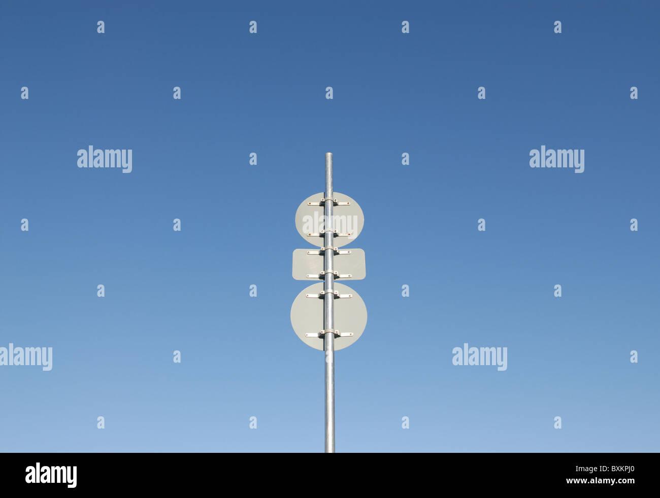 THREE SIGNS - Stock Image