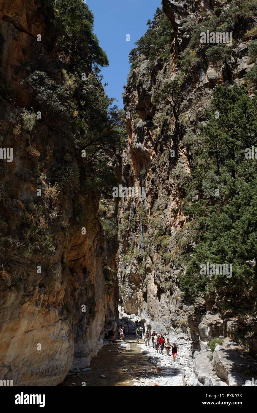 Iron Gate, Samaria Gorge, Chania Prefecture, Crete, Greece Stock Photo
