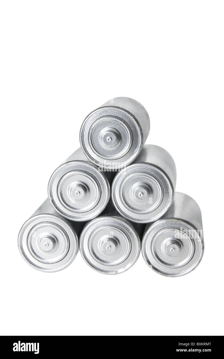 Stack of Batteries - Stock Image