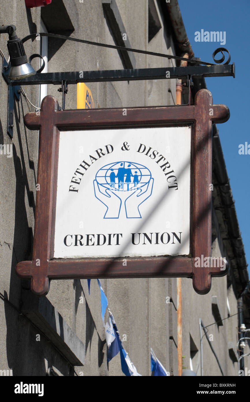 The Fethard & District Credit Union, Fethard, County Tipperary, Ireland (Eire). - Stock Image