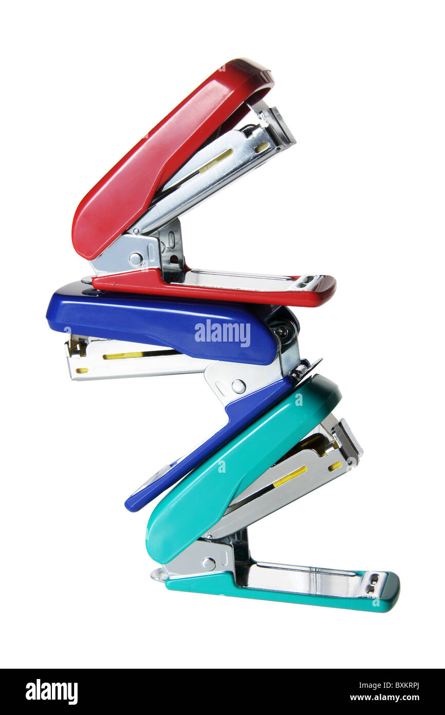 Stack of Staplers - Stock Image