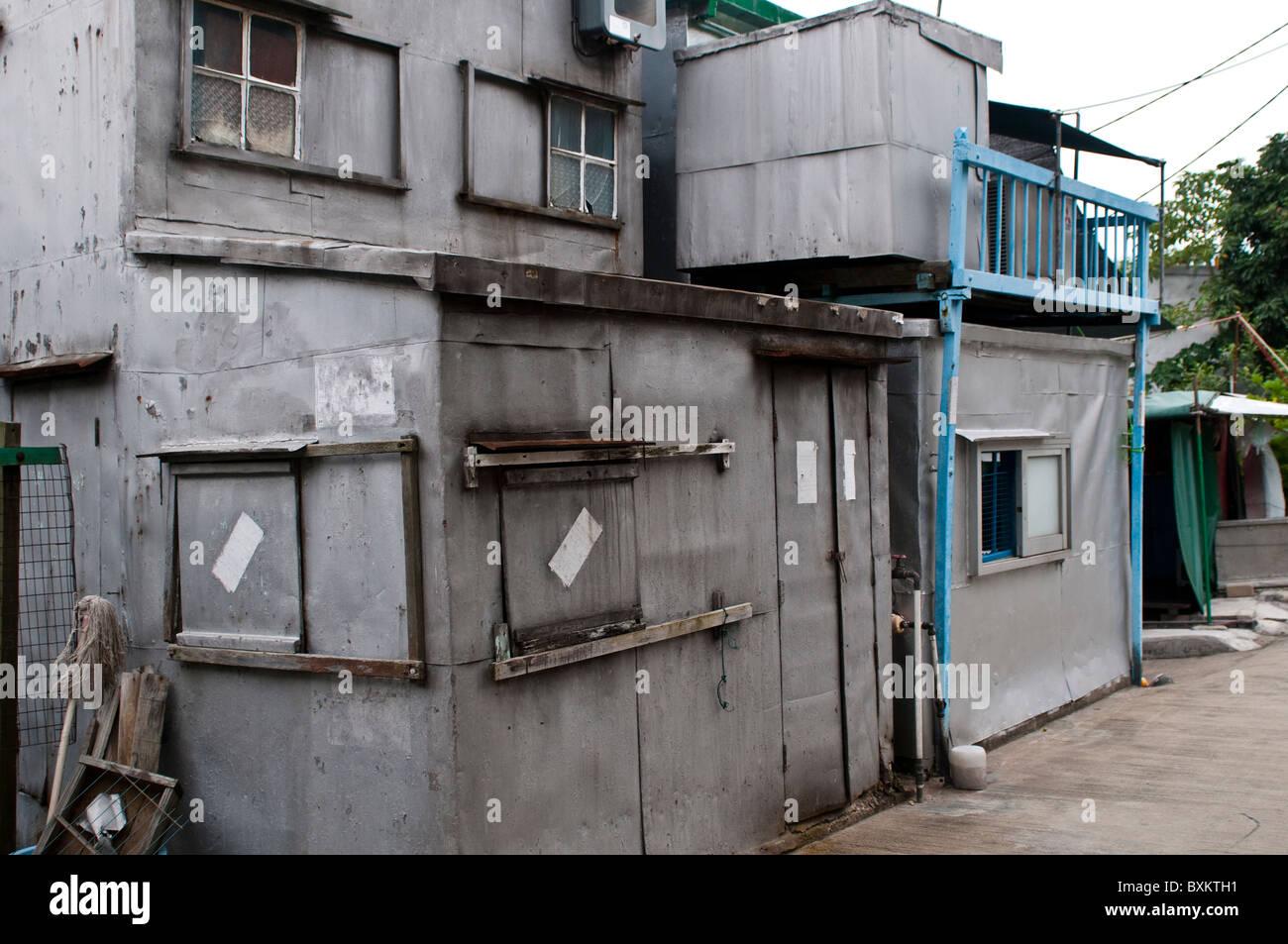 Tin house, Tai O village, Lantau island, Hong Kong, China - Stock Image