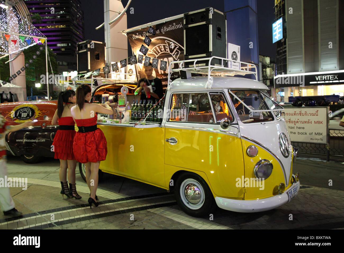 Volkswagen Van Bar In Bangkok Stock Photo Alamy