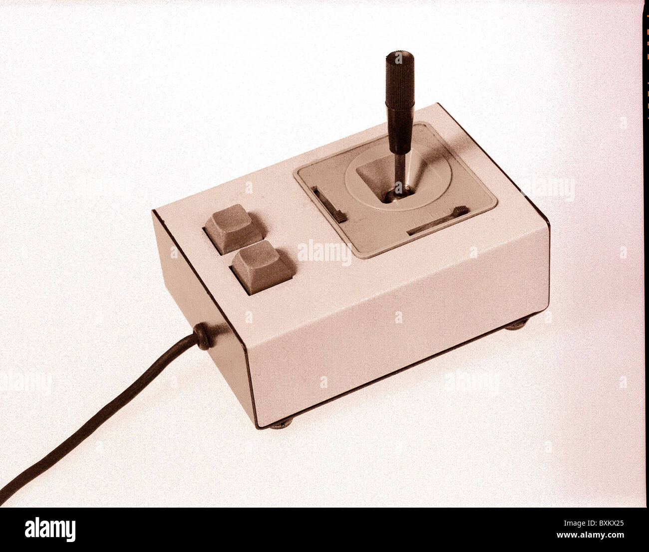 computing / electronics, early joystick for Apple computer, circa 1983, Additional-Rights-Clearences-NA - Stock Image