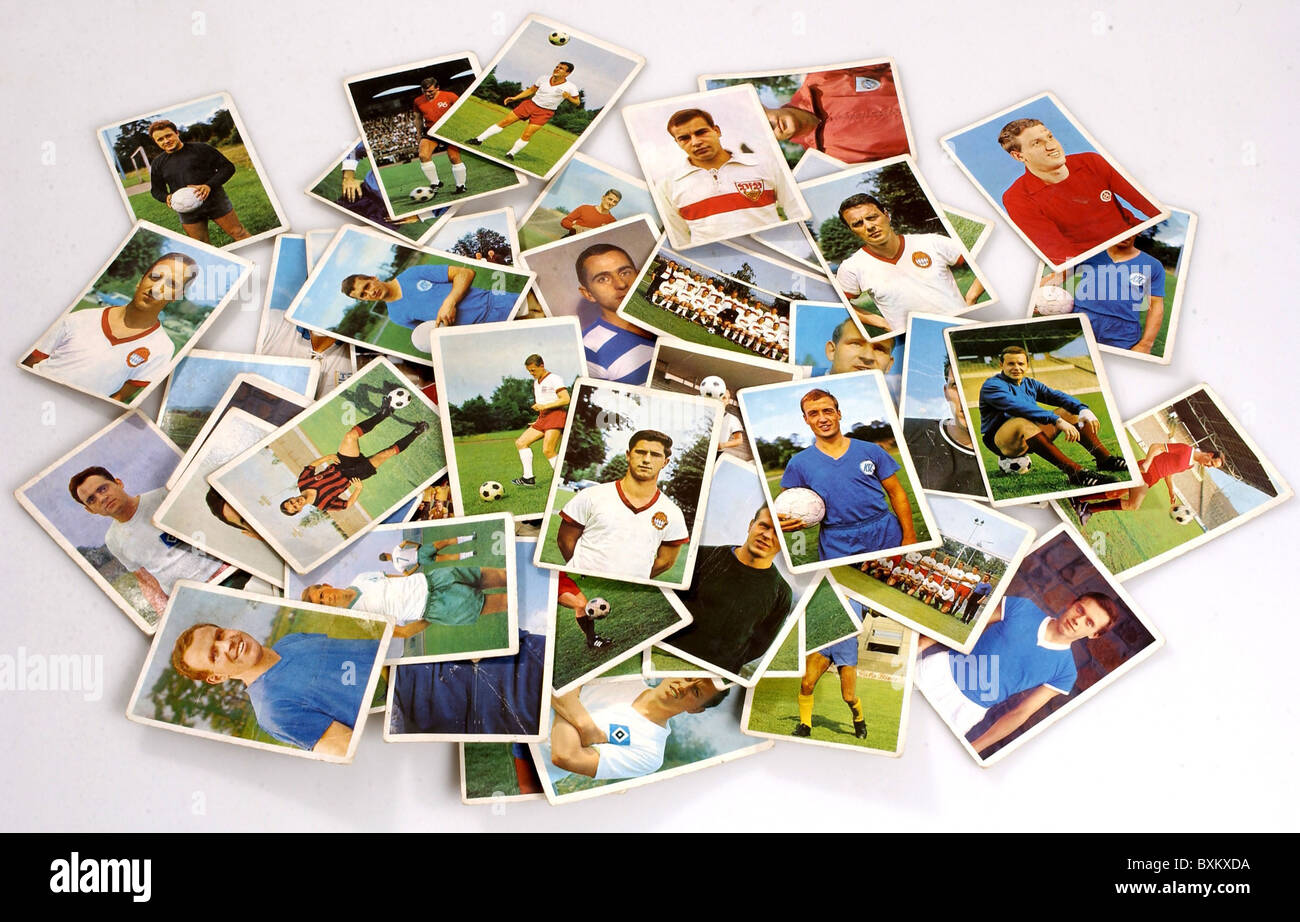 sports, football / soccer, football collection cards of the national league, season 1965/66, Germany, 1965/1966, - Stock Image
