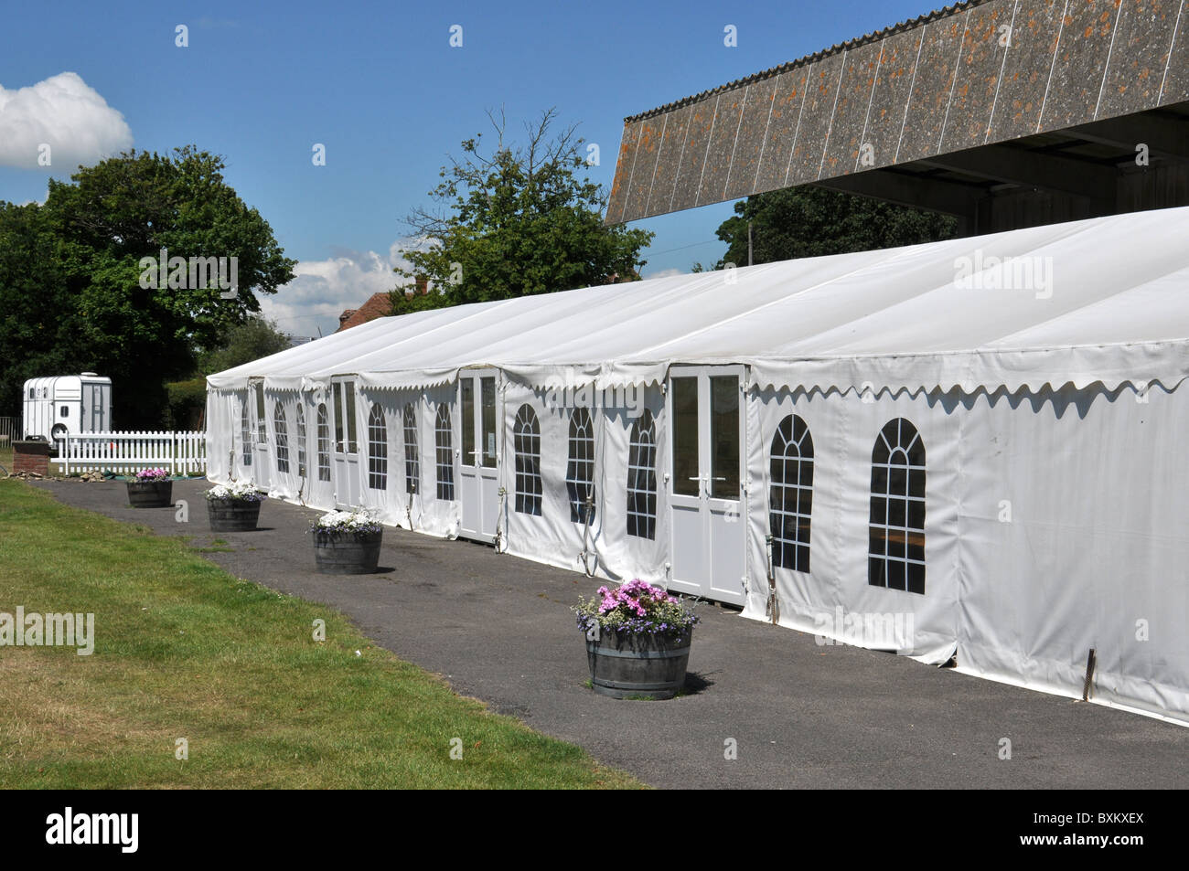 Hospitality marquee - Stock Image