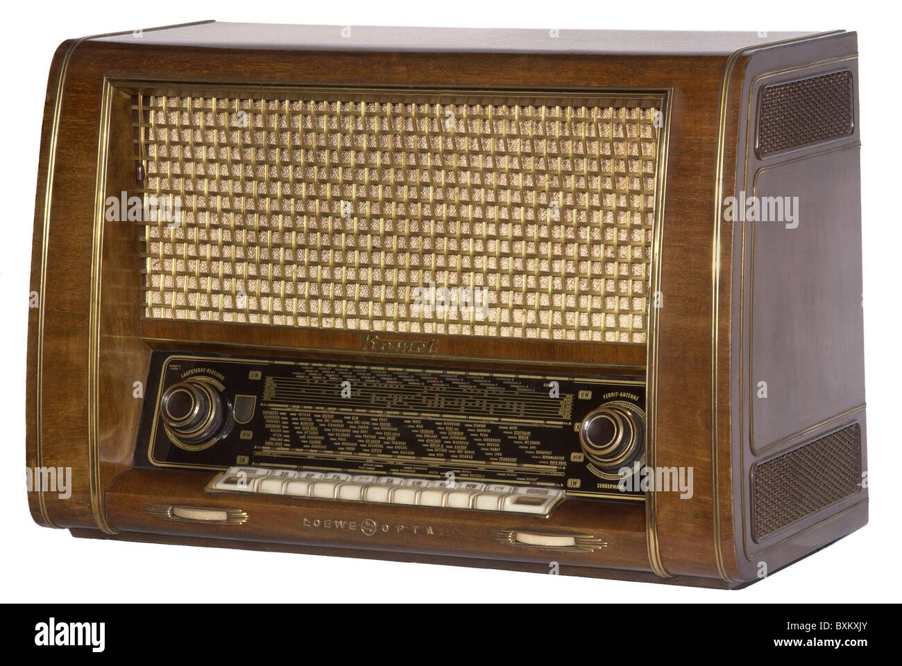broadcast, radio set, Loewe-Opta Komet, Germany, 1995, Additional-Rights-Clearences-NA - Stock Image