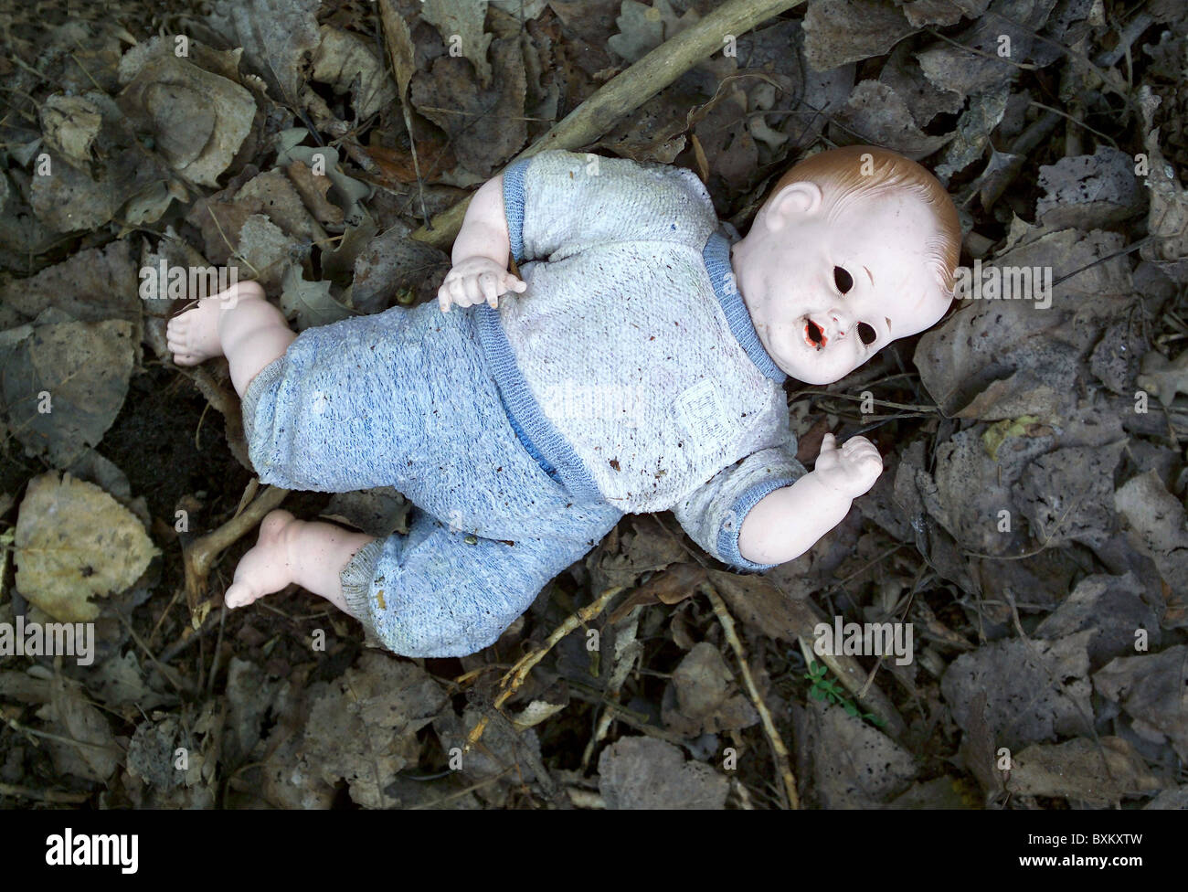 toys, dolls, doll, thrown away, Germany, 1960s, , Additional-Rights-Clearences-NA - Stock Image
