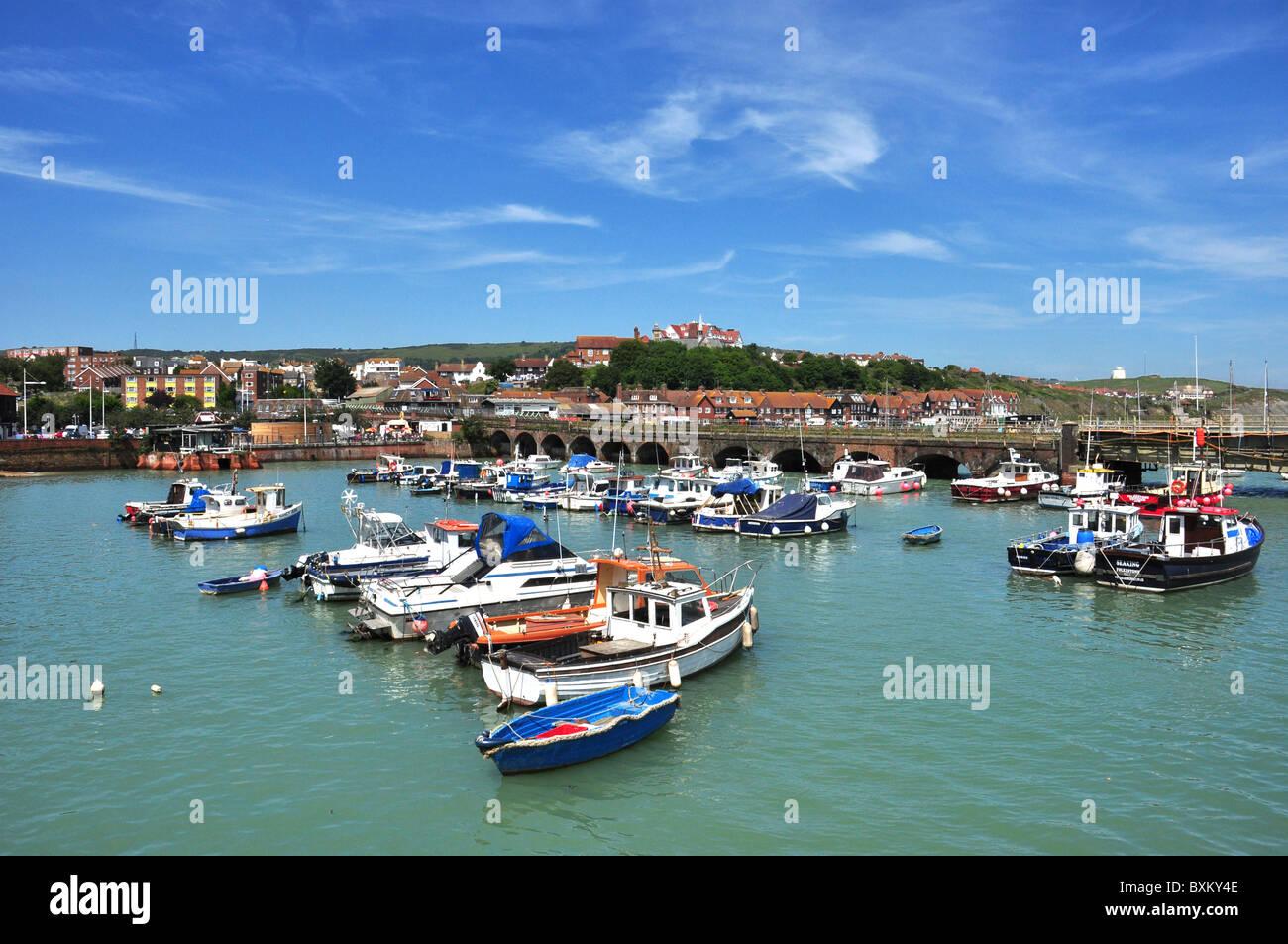 Folkestone harbour, Kent, UK - Stock Image