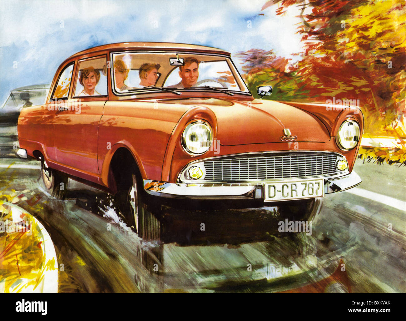 transport / transportation, car, vehicle variants, DKW Junior, made by Auto Union GmbH, Germany, 1959, Additional-Rights-Clearences-Not Available Stock Photo