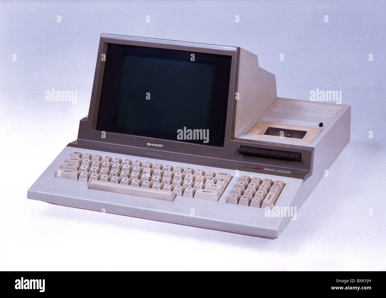 computing / electronics, computer, Sharp MZ-80A, early Japanese personal computer, Japan, 1982, Additional-Rights - Stock Image