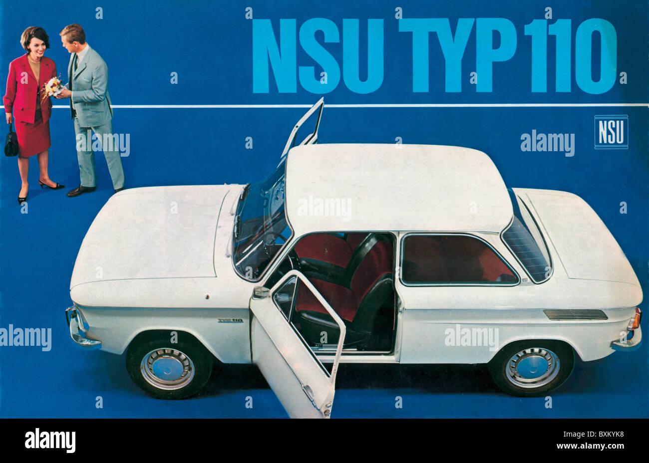 transport / transportation, car, vehicle variants, NSU Typ 110, made by NSU Werke Aktiengesellschaft Neckarsulm, - Stock Image