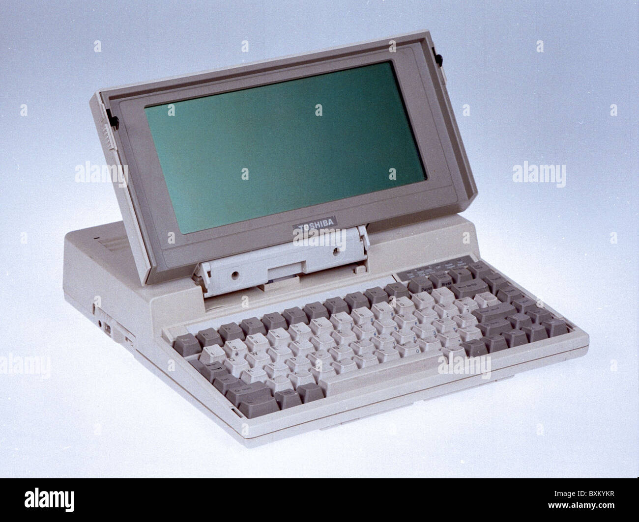 computing / electronics, computer, notebook, Toshiba T1200, Japan, 1986, historic, historical, 1980s, 80s, 20th - Stock Image
