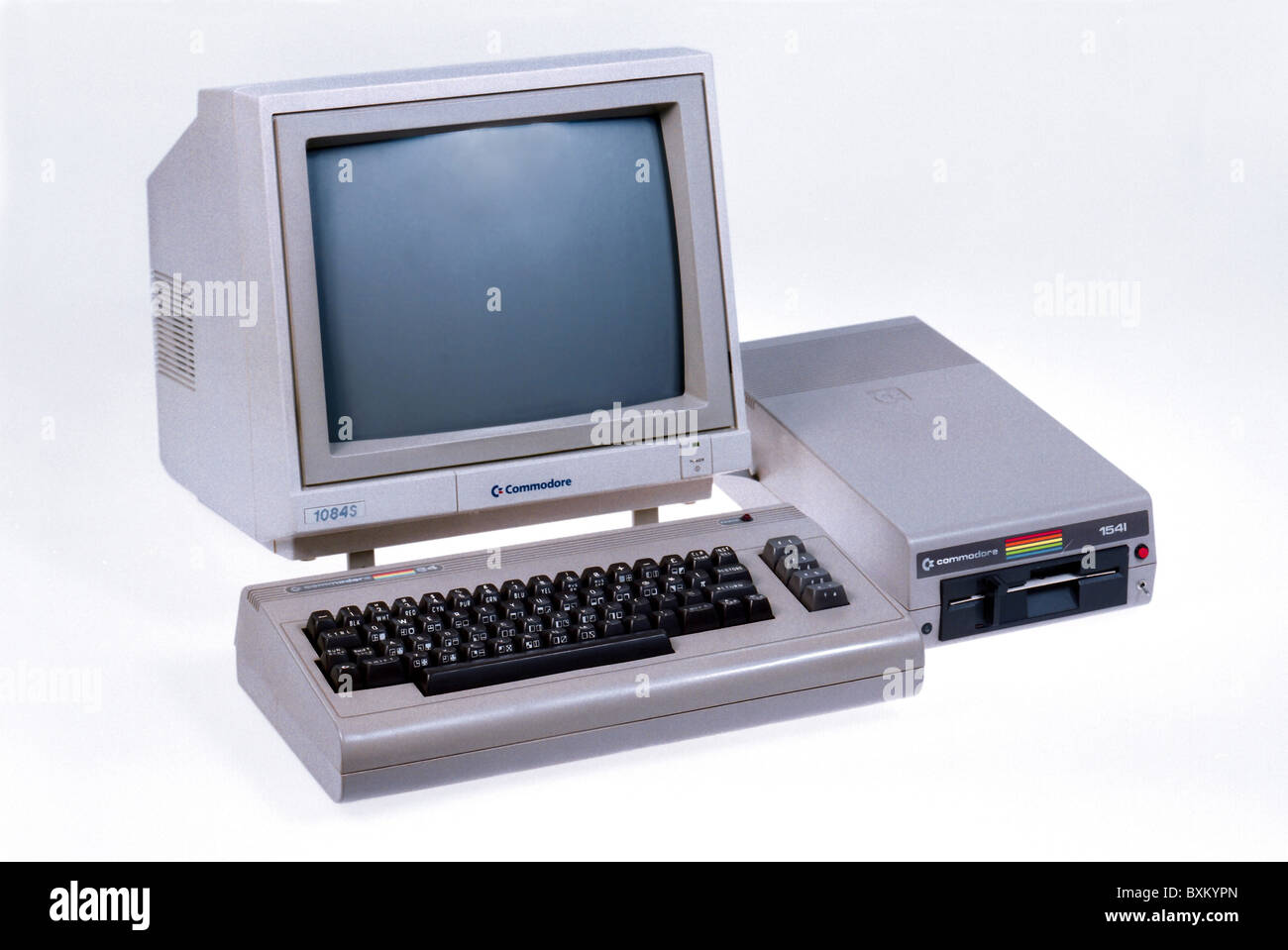 computing / electronics, computer, Commodore C64, 1982, 1980s, 80s, 20th century, historic, historical, C 64 Homecomputer, - Stock Image