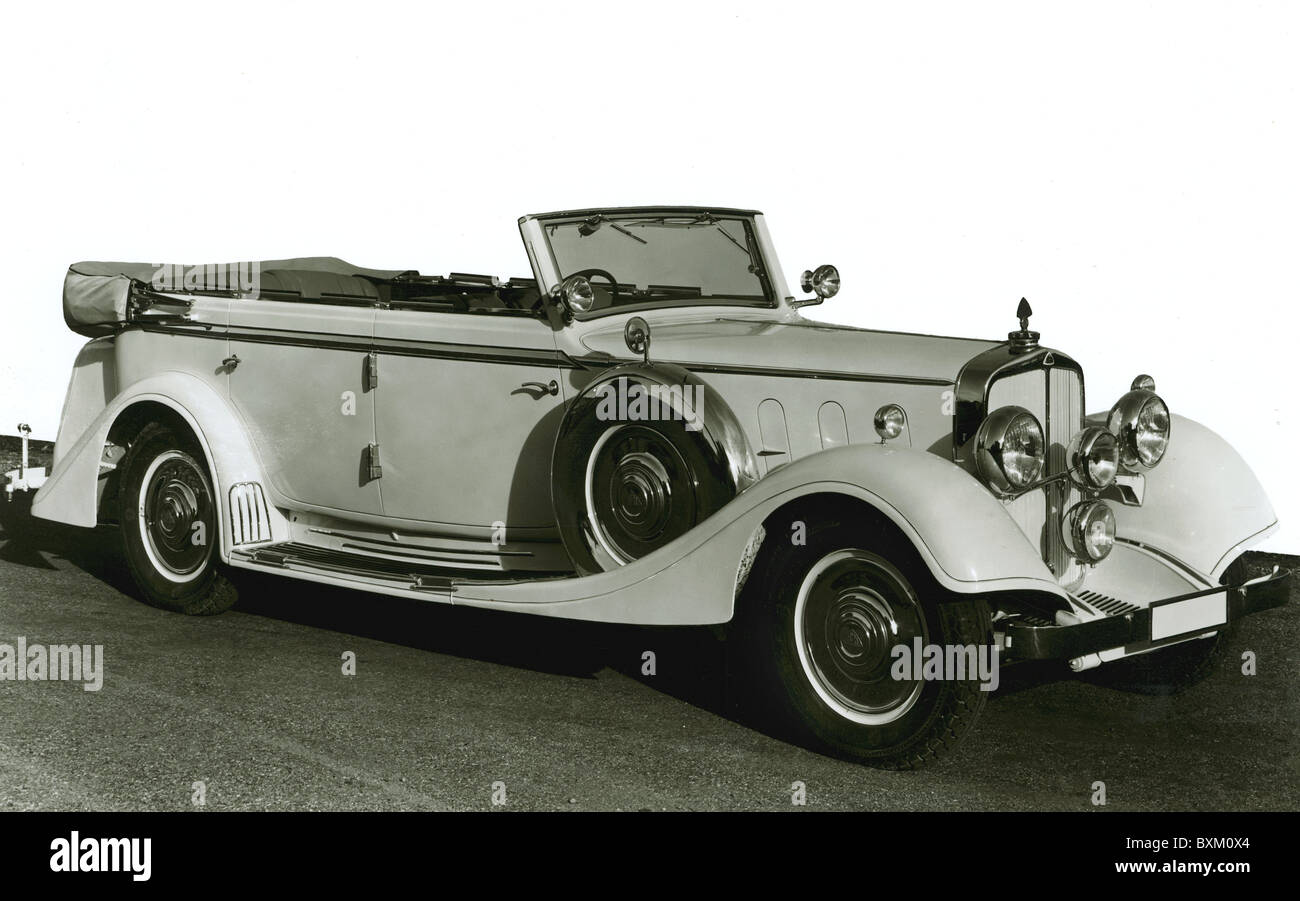 transport / transportation, car, vehicle variants, Maybach 12, Cabriolet, made by Maybach-Motorenbau GmbH, Friedrichshafen - Stock Image