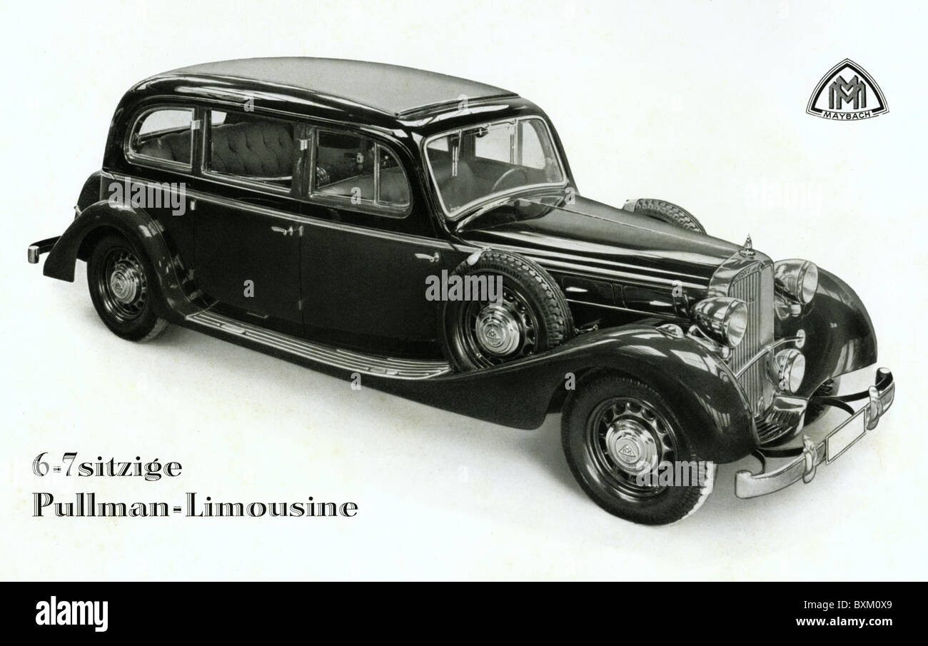 transport / transportation, car, vehicle variants, Maybach, Cabriolet, Typ SW 38, Pullmann-Limousine, six-cylinder, - Stock Image