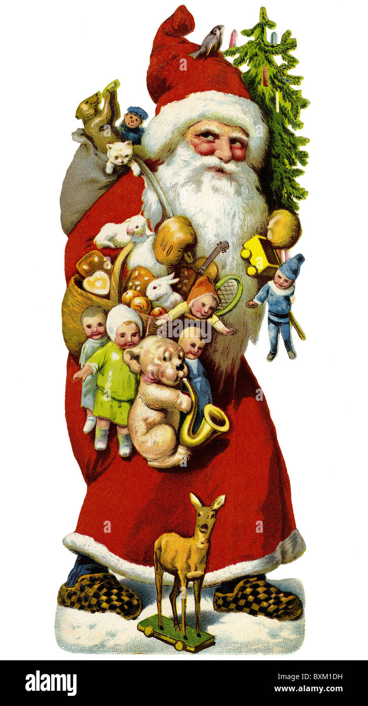 tradition / folklore, Germany, Santa Claus, circa 1929, Additional-Rights-Clearences-NA - Stock Image