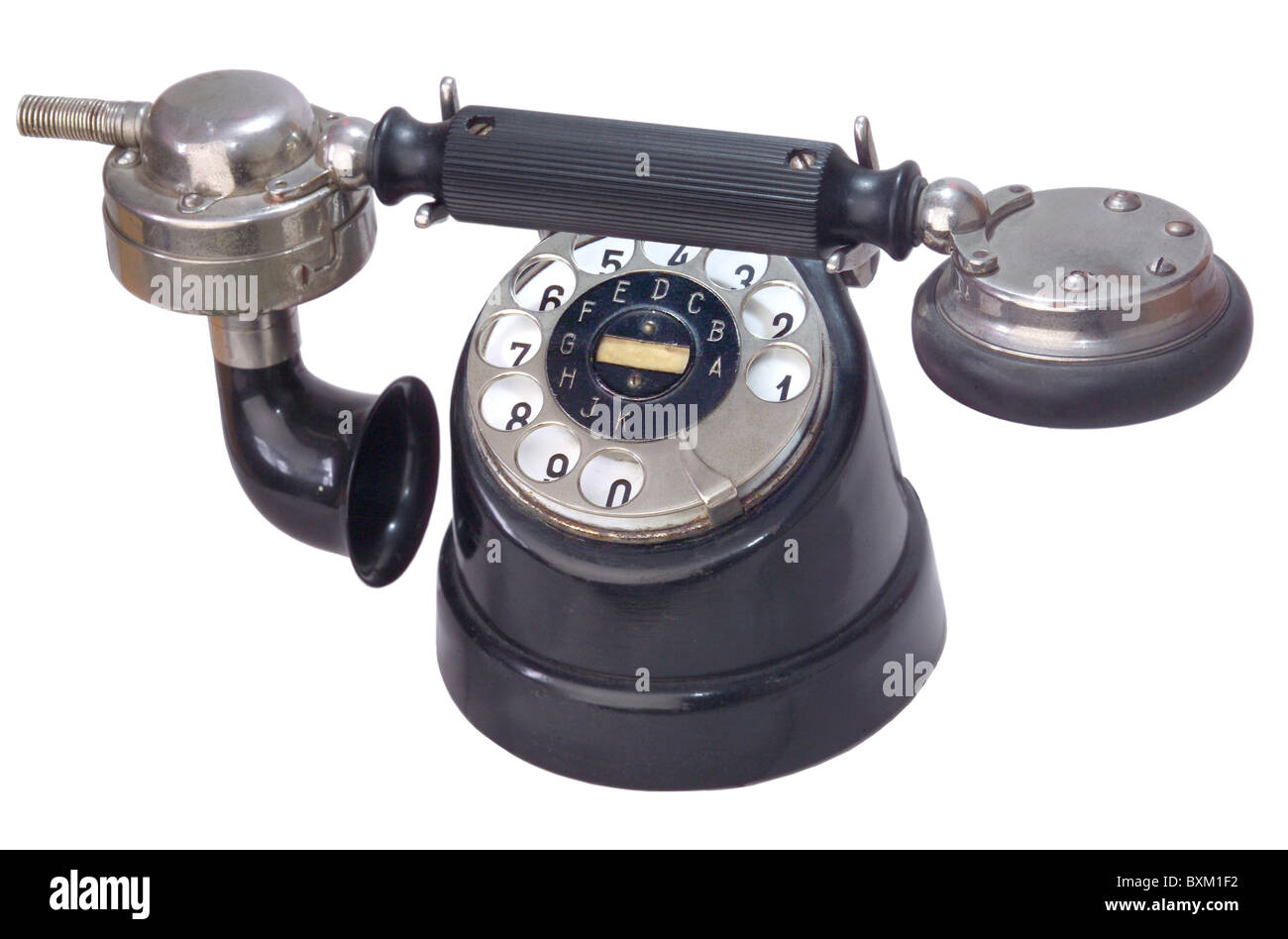 technics, telephones, telephone ZB/SA 25, nickname: cow feet, Bavaria, Germany, 1925, 1920s, 20s, 20th century, - Stock Image