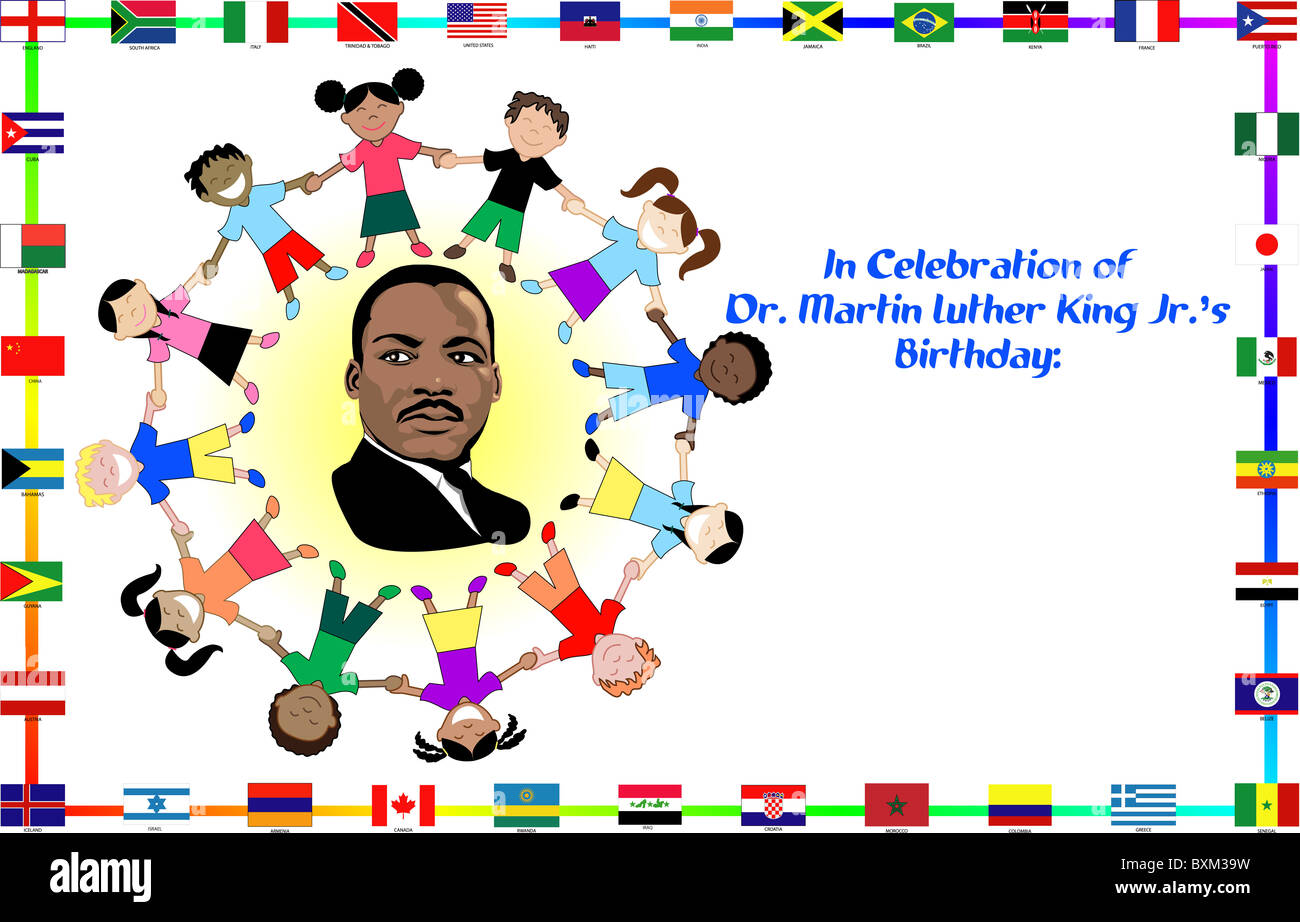 Illustration Of Dr Martin Luther King Dream Come True Stock Photo