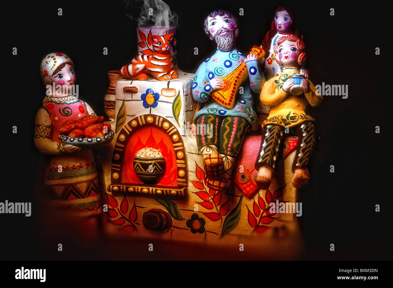 Russian national souvenir - Stock Image