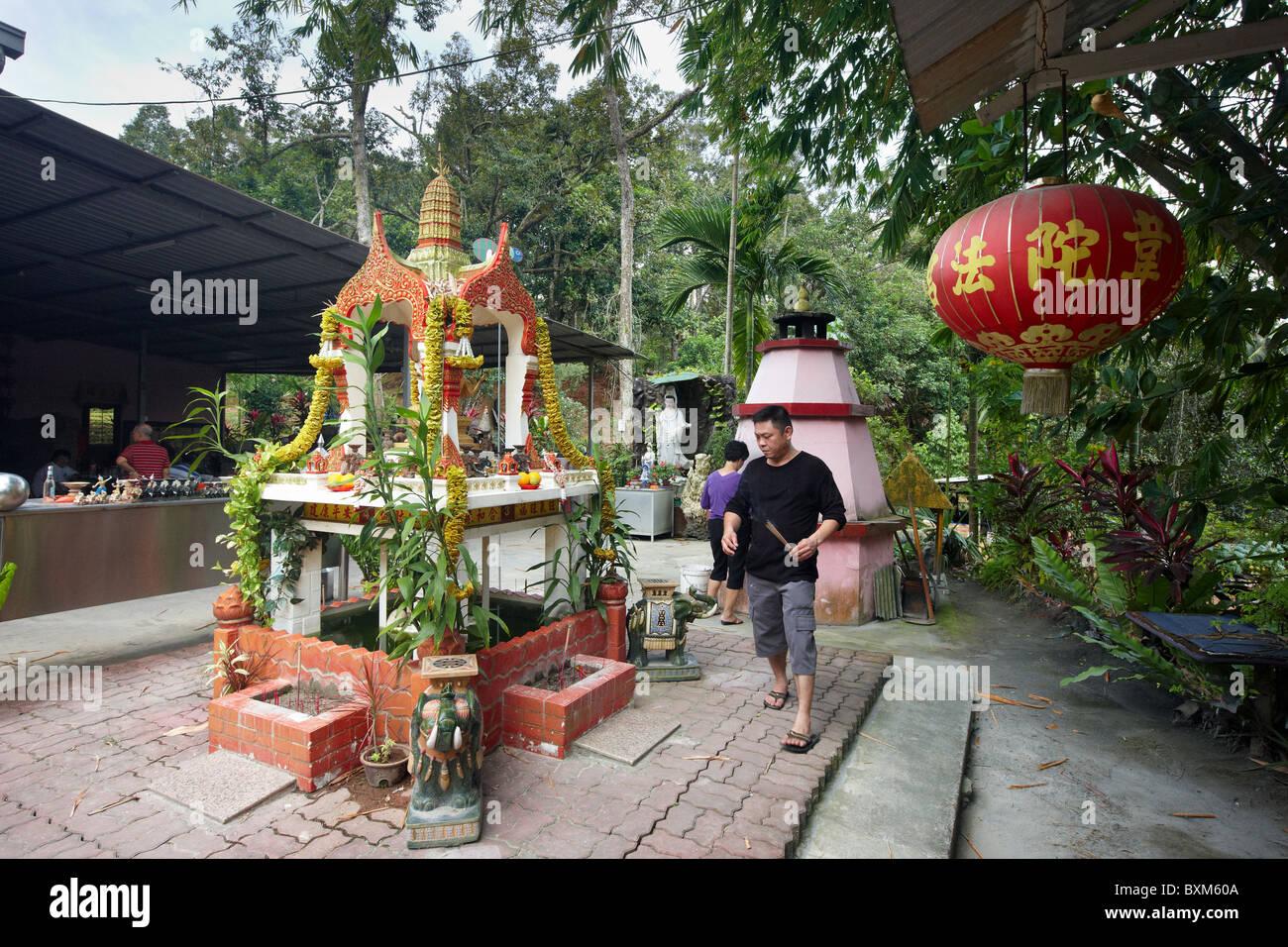 Wei Tou Fa Gong Temple (Lotus Temple), Pulau Ubin, Singapore - Stock Image