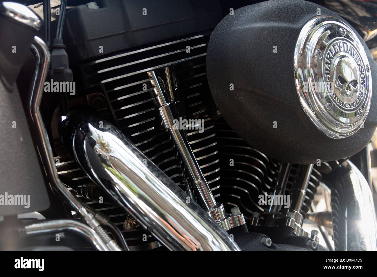 Harley Davidson 'Night Train' Limited Edition no 16 of 150 - Stock Image